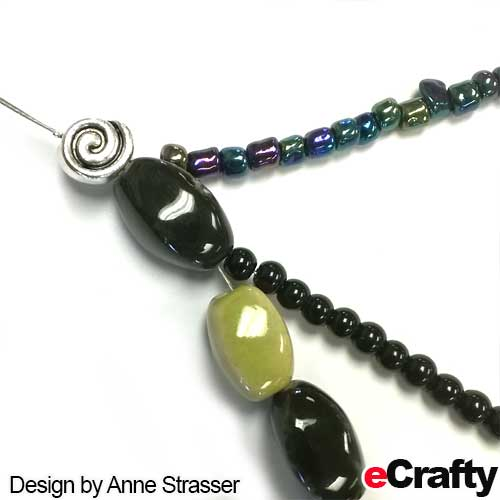 DIY twisted bead necklace tutorial from eCrafty.com